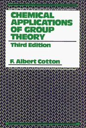 Chemical Applications of Group Theory 3e - COTTON, ALBERT F.