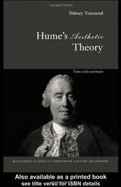 Humes Aesthetic Theory : Taste and Sentiment - TOWNSEND, DABNEY
