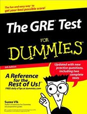 GRE Test for Dummies 5e - Vlk, Suzee J.
