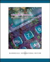 Fundamental Methods of Mathematical Economics 4e - Chiang, Alpha C.