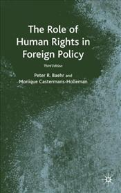 Role of Human Rights in Foreign Policy - Baehr, Peter