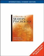 History of Modern Psychology 9e ISE  - SCHULTZ, DUANE P.