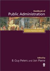 Concise Handbook of Public Administration - Pierre, Jon