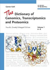 Dictionary of Genomics, Transcriptomics and Proteomics 4E : Three Volume Set - Kahl, Guenter
