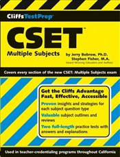 Cliffs Test Prep : CSET : Multiple Subjects - Bobrow, Jerry