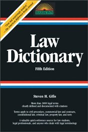 Law Dictionary 5e - Gifis, Steven H.
