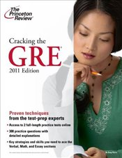 Cracking the GRE, 2011 -