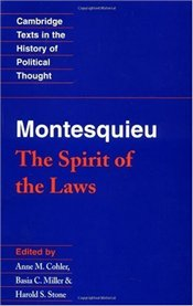 Spirit of the Laws - Montesquieu - COHLER, ANNE