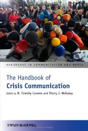Handbook of Crisis Communication  - Coombs, W. Timothy