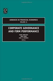 Corporate Governance and Firm Performance Vol. 13 - Hirschey, Mark
