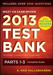 Wiley CIA Exam Review 2013 Online Test Bank 1-Year Access (Wiley CIA Exam Review Series) - Vallabhaneni, Rao