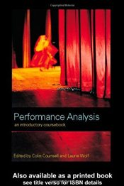 Performance Analysis : An Introductory Coursebook - Counsell, Colin