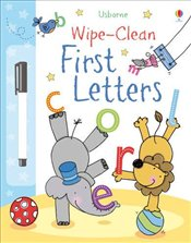 First Letters (Usborne Wipe Clean Books) - Brooks, Felicity