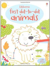 Animals (First Dot to Dot Books) (Usborne First Dot to Dot Books) - Brooks, Felicity