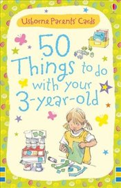 50 Things to do with 3 Year Olds (Usborne Parents Cards) - Brooks, Felicity