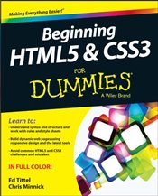 Beginning HTML5 and CSS3 For Dummies  - TITTEL, ED