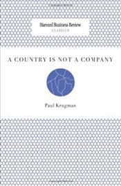 Country Is Not a Company - Krugman, Paul R.