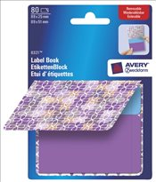 Avery - Zweckform Not Etiketi 89x51+89x25mm (No:8321-Mor-Mavi) -