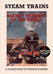 Steam Trains : A Collection of Vintage Posters (Poster Packs) - Collective,