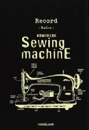 NoteLook - Retro Sewingmachine Çizgili Defter A5 100yp. -
