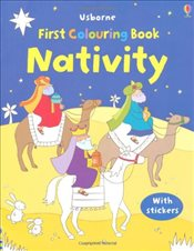 Nativity Colouring Book with Stickers (Usborne First Colouring Books) - Brooks, Felicity