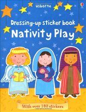 Dressing Up Sticker Book Nativity Play (Usborne Getting Dressed Sticker Books) - Brooks, Felicity