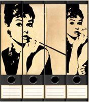 Audrey Stickers for Binders -