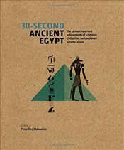 30-Second Ancient Egypt: The 50 Most Important Achievements of a Timeless Civilization, Each Explain - Der Manuelian, Peter