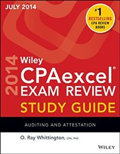 Wiley CPA Excel Exam Review 2014 Study Guide : Auditing and Attestation   - Whittington, O. Ray