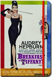 Deffter - Breakfast at Tiffanys Sert Kapak Çizgili Defter 16x22.5 96yp. -