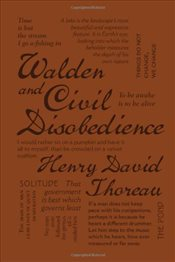 Walden and Civil Disobedience (Word Cloud Classics) - Thoreau, Henry David