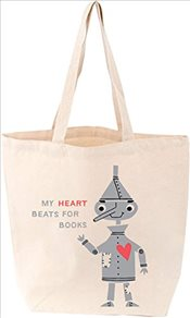 My Heart Beats for Books Tote Bag -