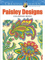Creative Haven Paisley Designs Collection Coloring Book -