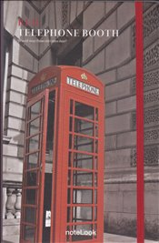 NoteLook - Red Telephone Booth Çizgili Defter A5 100yp. -