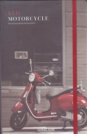 NoteLook - Red Motorcycle Çizgili Defter A5 100yp. -