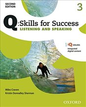 Q Skills for Success Level 3 3e : Listening & Speaking Student Book with iQ Online - Craven, Miles