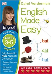 English Made Easy Rhyming Preschool Ages 3-5   - Vorderman, Carol