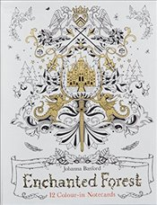 Enchanted Forest: 12 Colour-in Notecards (Colouring Notecards) - Basford, Johanna