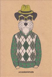 Deffter - Cool Animals Scottish Gentleman Çizgili Defter A6 30yp. -