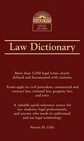 Law Dictionary : Barrons Legal Guides - Gifis, Steven H.