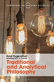 Traditional and Analytical Philosophy: Lectures on the Philosophy of Language (Cambridge Philosophy  - Tugendhat, Ernst