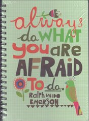 Deffter - Lovely Never Be Afraid Sert Kapak Spiralli Çizgili Defter 20x28 96yp. -