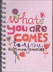 Deffter - Lovely What You Are Comes Sert Kapak Spiralli Çizgili Defter 14x20 96yp. -