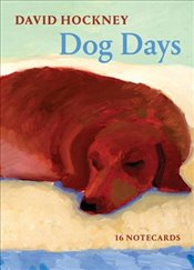 David Hockney Dog Days : Notecards - Hockney, David