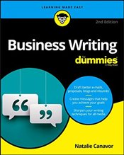 Business Writing For Dummies  - Canavor, Natalie