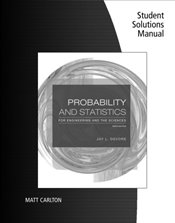 Student Solutions Manual for DeVores Probability and Statistics for Engineering and the Sciences, 9 - DeVore, Jay L