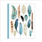 Arrows & Feathers Deluxe Spiral Notebook   -