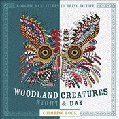 Woodland Creatures Night & Day Coloring Book: Gorgeous Creatures to Bring to Life (Night & Day Color -