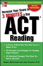 Increase Your Score In 3 Minutes A Day : ACT Reading  - Mccutcheon, Randall