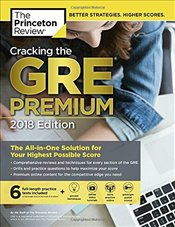 Cracking the GRE Premium Edition with 6 Practice Tests 2018 Edition  -